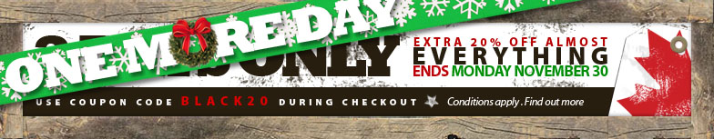 Extended until Monday Nov 30 save an extra 20% off amost everything. Conditions apply. See offer for details.