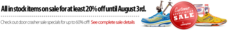 Customer Appreciation Sale - Thursday July 24 to August 3, 2014. Save at least 20% off everything in-stock, and up to 60% off selected items.