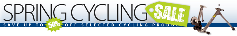 Spring Cycling Sale - Save up to 50% off selected cycling clothing, accessories, trainers, and more.