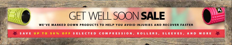 Get well soon sale. We've marked down products to help you avoid injuries and recover faster. Save up to 70% off selected compression, rollers, sleeves, and more.