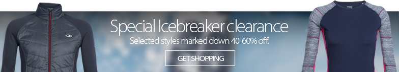 Deal Alert - Special Icebreaker clearance. Once-a-year savings on Icebreaker TOps, Jackets, Hoodies, and more. Selected styles marked down from 40-60% off while sizes last. Shop now.