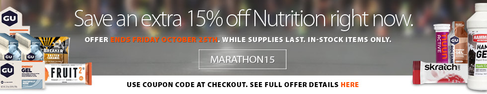 Stock up on nutrition products right now and save an extra 15% off the lowest ticketed price for a limited time. Some conditions apply. See full offer for details. Offer ends October 25th, 2019