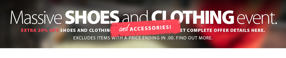 Massive Shoes and Clothing (AND Accessories) Continues with markdowns and extra discounts! Save on in-stock Shoes and Clothing, Accessories including narly 300 styles of running, walking, and cycling socks. Excludes items with a price ending in $.00. Excludes selected models. See coupon for details. Shop early for best selection. Limited time offer.