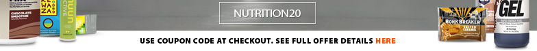 Deal Alert - Stock up now! For one week only save an extra 20% off all nutrition products at running Free stores and runningfree.com. Download coupon for complete details. Selection varies by location.