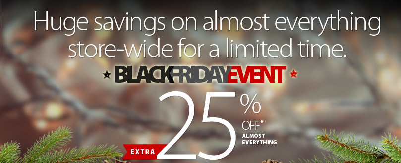 Shop now during our massive Black Friday Event. New markdowns and nearly store-wide discounts! Details