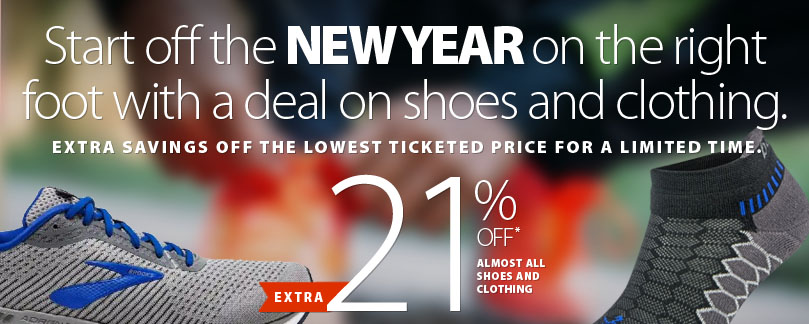 Cheers to a better and brighter year in 2021! Save an extra 21% off most shoes and clothing storewide. See conditions.