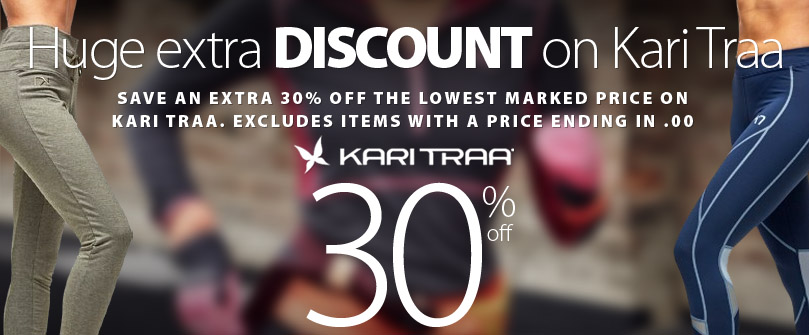 For a limited time save a MASSIVE extra 30% off Kari Traa products. Some conditions apply. Excludes items with a price ending in $.00. Get complete details here. Offer ends March 4th, 2020.