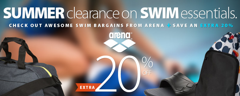 Save now on Summer swimming clearance from Arena. Plus, get an extra 20% almost everything in the store!