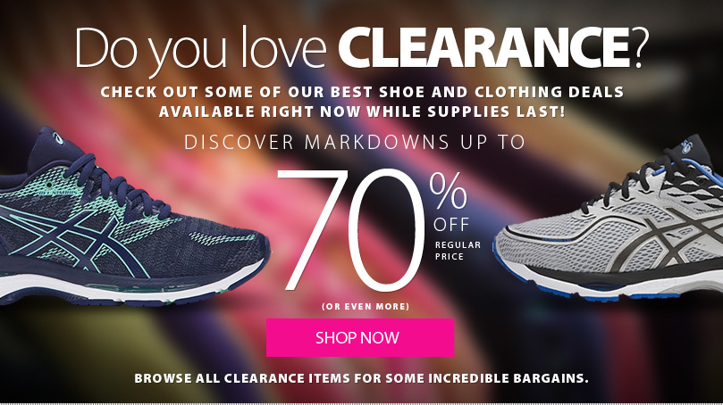 Do you love Clearance? CHECK OUT some of our best shoe and clothing deals available right now while supplies last! Discover markdowns up to 70% (or more) off regular price. browse all clearance items for some incredible bargains.