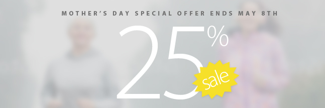 Mom would love a new running outfit. Take advantage of a limited time Mother's Day speecial offer and save 25% off all Women's clothing not already on sale. Plus get a $25 Gift Coupon with $25 purchase of Women's clothing before taxes. Some conditions apply. See coupon for coupon code and complete details.
