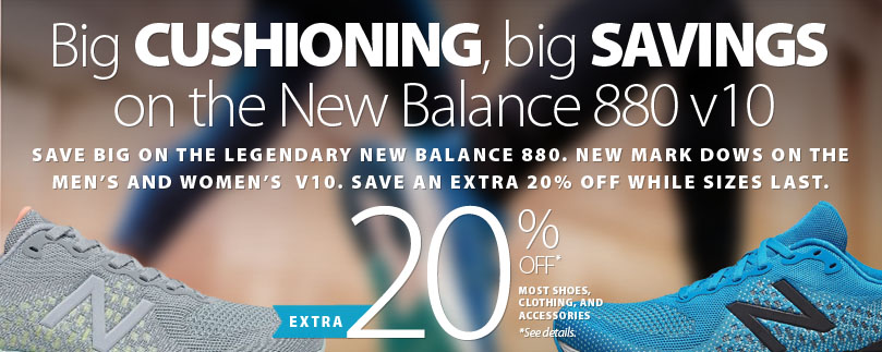 Save now on the New Balance 880 v10. Extra 20% off with LOCKDOWN20 offer. See offer for details.