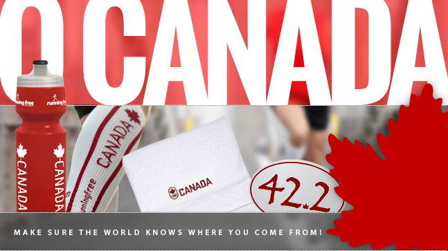 O Canada. Make sure the world knows where you come from! Unique Canada bottles, compression sleeves, olympic towels, bumper stickers and more!