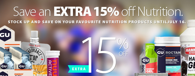 Right now SAVE an EXTRA 15% off all Nutrition products. Load up on your favourite flavours                      or try something new. We're loaded up with inventory but shop early for best size selection. Offer ends Monday July 16th, 2018. Get complete details on the coupon here.