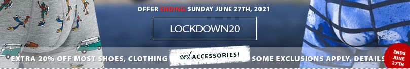 LOCKDOWN20 offer on now! Save an extra 20% off almost all everything store-wide. Excludes nutriton and other products. See coupon for complete details.