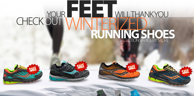 Your feet will thanks you this winter. Check out Winterized Running Shoes now availble at Running Free. Selection varies by store. See stores for details.