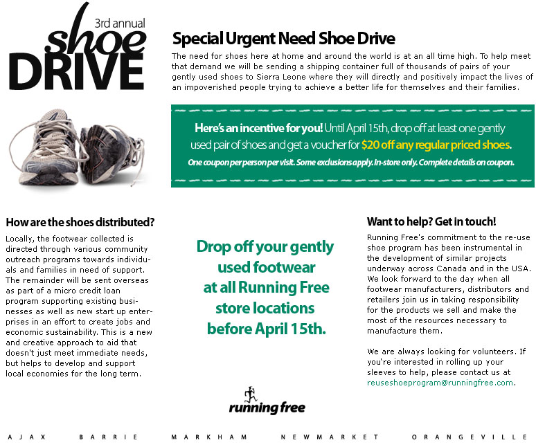 Find Out More About Our In Reuse Shoe Credit