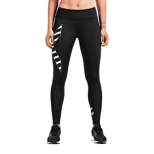 2XU Bonded Mid-RiseTights Women's Black/Paint White