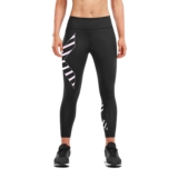 2XU Bonded Mid-RiseTights Women's Black/Paint Winsome