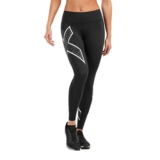 2XU Bonded Mid-RiseTights Women's Black/Galaxy White