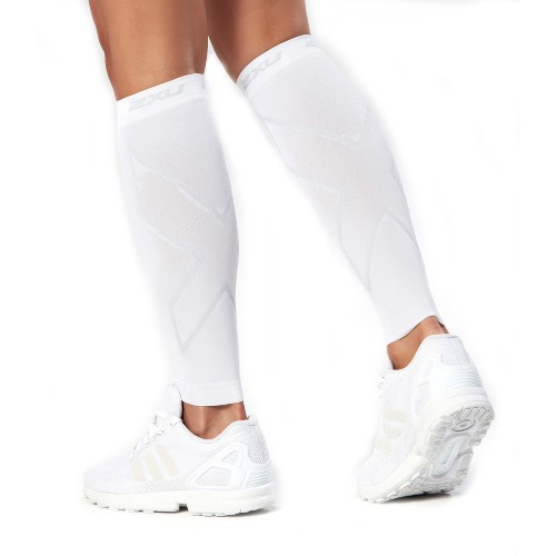 2XU Compression Calf Sleeves Unisex White/White