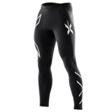 2XU Compression Tights Men's Black/Silver Logo