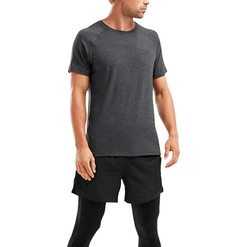 2XU HEAT S/S Run Tee Men's Outer Space/Outer Space