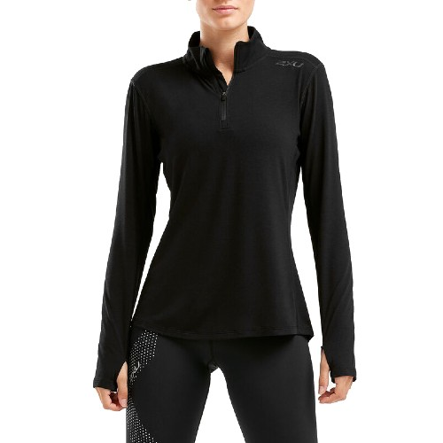 2XU Heat 1/4 Zip Top Women's Black/Black