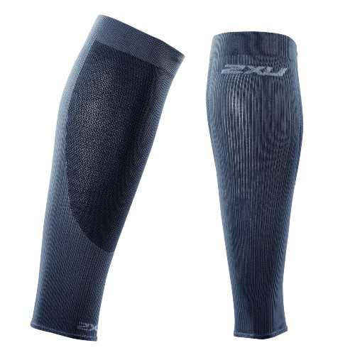 2XU Performance Calf Sleeve Unisex Titanium/Black