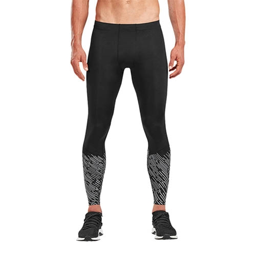 2XU Reflect Run Tights Men's Black/Silver Reflect