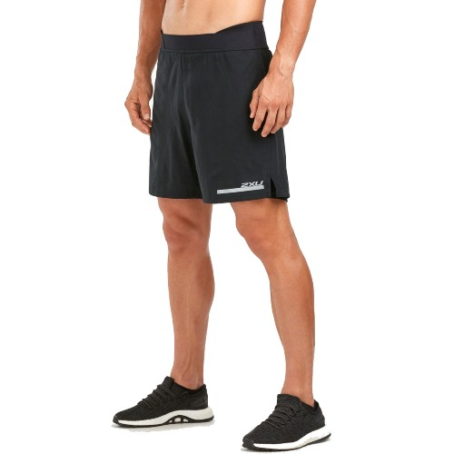 "2XU Run 2 IN 1 Comp 7"" Short Men's Black/Silver"