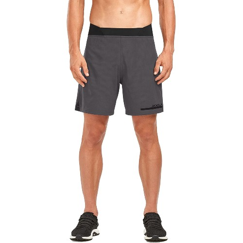 "2XU Run 2 IN 1 Comp 7"" Short Men's Charcoal/Nero"