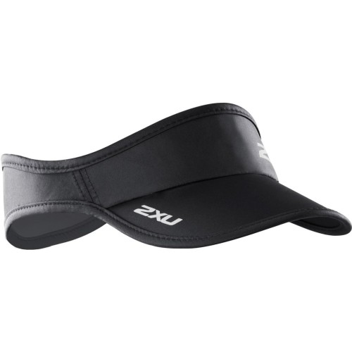 2XU Run Visor Unisex Black/Black