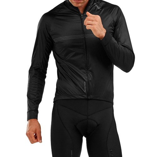 2XU Wind Defence Cycle Jacket Men's Black/Reflective