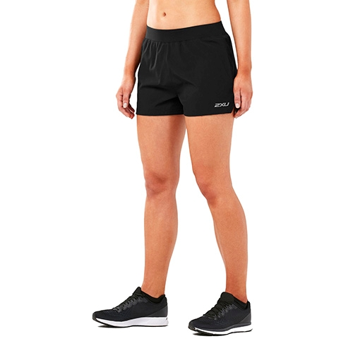 "2XU XVENT 4"" Free Short Women's Black/Black"