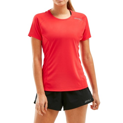 2XU XVENT S/S Tee Women's Jungle Red/Reflective
