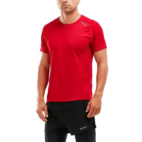 2XU XVENT S/S Tee Men's Chilli/Reflective X