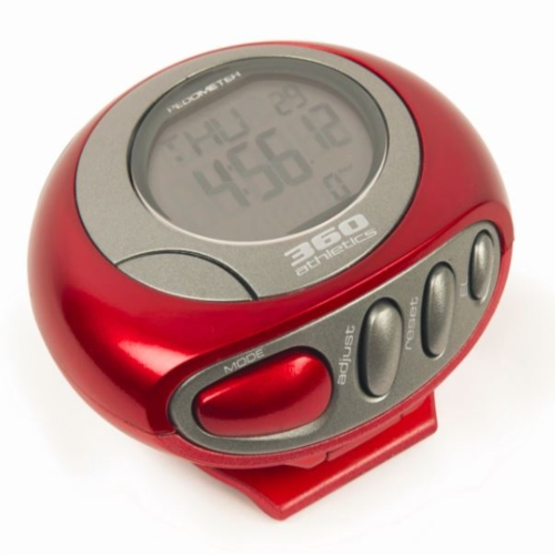 360 Athletics Deluxe Pedometer Deluxe Pedometer Red
