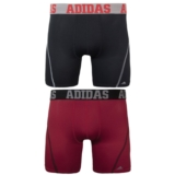 Adidas 2PkClimalite TrunkBoxer Men's Black/Real Red