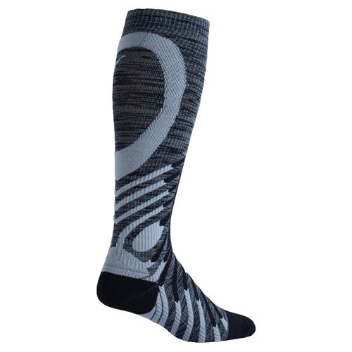 00ae114513 EC3D Twist Compression Socks Unisex Black/Grey - Running Free Canada