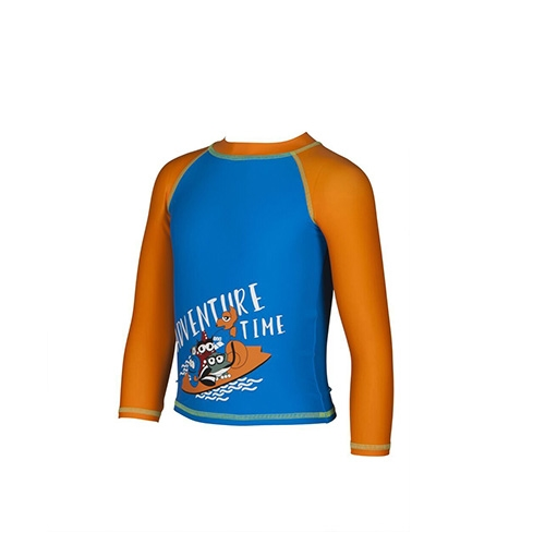 Arena Awt Kids Boy Uv L/S Tee Kid's Pix Blue-Tangerine