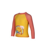 Arena Awt Kids Girl Uv L/S Tee Kid's Lily Yellow-Pale Rose
