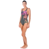 Arena Backwash One Piece Women's Shadow Grey/Rose