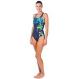 Arena Backwash One Piece Women's Navy/Pix Blue
