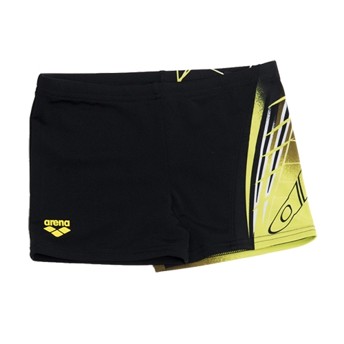Arena Boys Aventura JR Short Youth Black/Soft Green