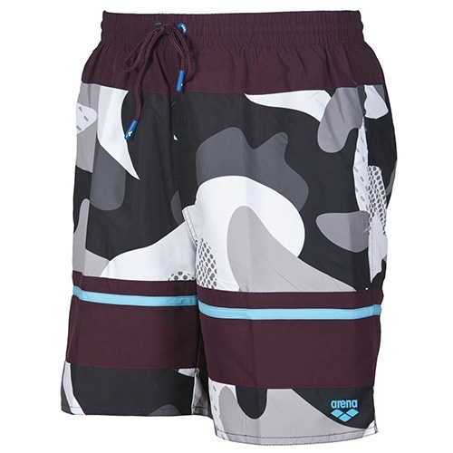 Arena Camo Bermuda Men's Red Wine-Sea Blue