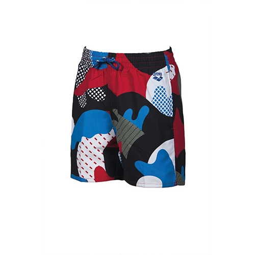 Arena Camo Jr Boxer Kid's Red/Royal