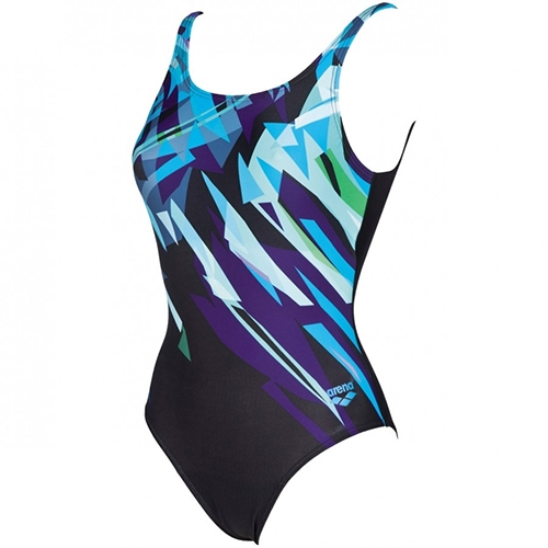 Arena Canvas B One Piece Women's Black/Turquoise