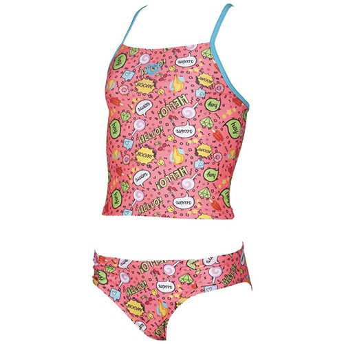 Arena Fantasy Jr Tankini Kid's Shiny Pink Multi