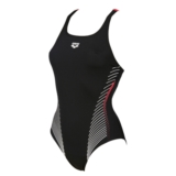 Arena Fluids One Piece B Women's Black/Fluo Red