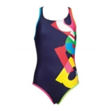 Arena Girls Patch JR One Piece Youth Navy/Multi